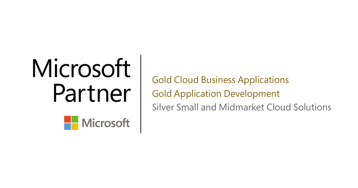 Microsoft Gold Partner logo with competencies